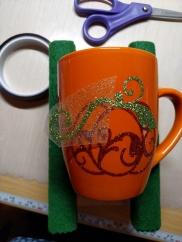 Mug resting on holder